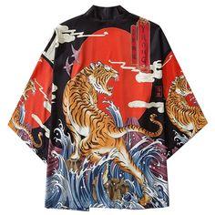 Kimono Yukata, Kimono Shirt, Kimono Cardigan, Kimono Jacket, Japanese Kimono, Japanese Fashion, Japanese Fox, Folklore Japonais, White Outfit For Men