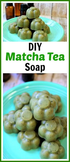 DIY Matcha Tea Soap- This DIY matcha tea soap will help reduce fine lines and wrinkles and clear up blemishes, while balancing the oil and moisture in your skin. And it also smells great! Check out my easy tutorial to find out how to make your own homemade soap with matcha tea! | homemade beauty product, shea butter soap, green soap, flower shaped soap, craft, diy gift, #soapmaking #diybeauty  #craft #matchagreentea