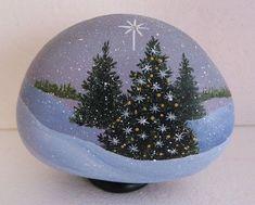 Best DIY Christmas Painting Rocks Design (08)