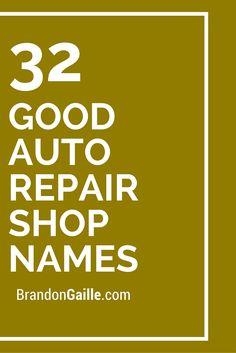 27 great catchy auto body shop slogans car detailing 32 good auto repair shop names fandeluxe Images