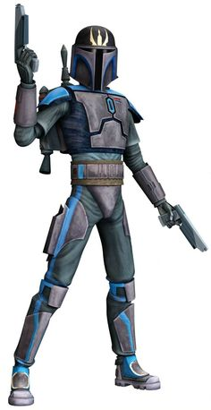 It's a skin of Pre Vizsla of Star Wars the Clone Wars. Description from minecraftforum.net. I searched for this on bing.com/images