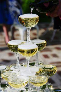 pyramide de champagne pour mariage