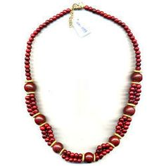 Fashion Jewellery Wooden Necklace