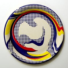 Roy Lichtenstein Plate hand-signed