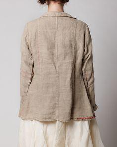 9c33f6fbc36 ewa i walla - rural linen jacket + red stripes Baggy Clothes