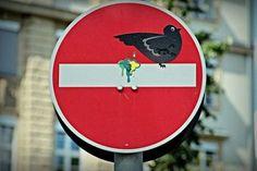 Señales de tránsito modificadas – 道路標識にいたずら