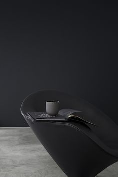 Black on black armchair vignette