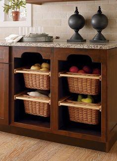 Open basket cabinets