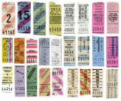 Argentinian bus tickets.