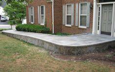 Outside Basement Entrance handicap ramp - Norton Safe Search Handicap Accessible Home, Handicap Ramps, Ramp Design, Building Design, House Design, Basement Entrance, Entrance Ways, Disabled Ramps, Wheelchair Ramp