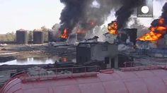 Los bomberos de Kiev sacan la artillería pesada tras tres días de infierno