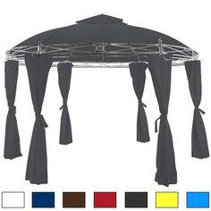 Pavillon anthrazit 350 cm - Gartenzelt Gartenlaube Zelt