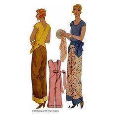 illustration for 1930s Kitchenette Pajamas