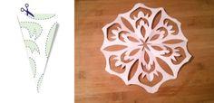Jak zrobić śnieżynki z papieru – szablony (DIY)   Mamotoja.pl Snowflakes, Wall Mount, Diy, Xmas, Paper, Snow Flakes, Wall Installation, Bricolage, Do It Yourself