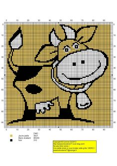 vache - cow - point de croix - cross stitch - Blog : http://broderiemimie44.canalblog.com/