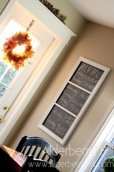 Chalkboard for narrow kitchen wall