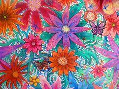Forever Summer love flowers art by melanie dann