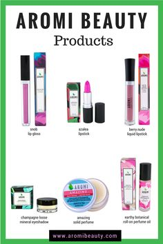 Aromi Beauty Products Aromi offers lip gloss, lipstick, matte liquid lipstick, loose mineral eyeshadow, solid perfume and cologne, and roll-on perfume oil.  Each product is vegan and cruelty-free and is handcrafted in small batches  aromi beauty   best liquid lipstick   top liquid lipstick   best vegan liquid lipstick   cruelty-free products   vegan beauty products   cruelty-free beauty products   handmade lipstick   peta and leaping bunny approved   indie cosmetics   indie makeup brands…