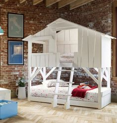 Wood-product bunk #bed LITS CABANES by Mathy by Bols | #design François Lamazerolles #children #kids