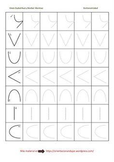 Ejercicios de grafomotricidad para niños: formas sencillas con ejemplos punteados fichas 1 a 25 Página 05