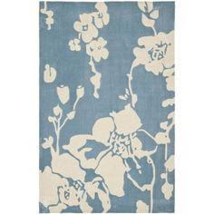 Safavieh Handmade Modern Art Summer Blue/ Ivory Polyester Rug (4' x 6') (MDA621A-4), Size 4' x 6' (Cotton, Floral)