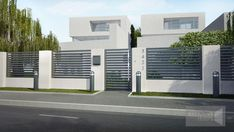 Captivating Modern fence ideas,Wooden fence gate hardware and Front yard fence design ideas. House Fence Design, Modern Fence Design, Modern Gates, Garden Design, Pallet Ideas For Outside, Tor Design, Boundary Walls, Front Yard Fence, Small Fence