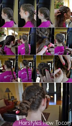 Dutch Braids into Fishtail Bun Tutorial