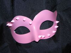 New to TheCraftyChemist07 on Etsy: Pink Mask with Stud and Spike Accents (16.80 USD)