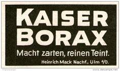 Original-Werbung/ Anzeige 1924 - KAISER-BORAX - ca. 60 x 35 mm