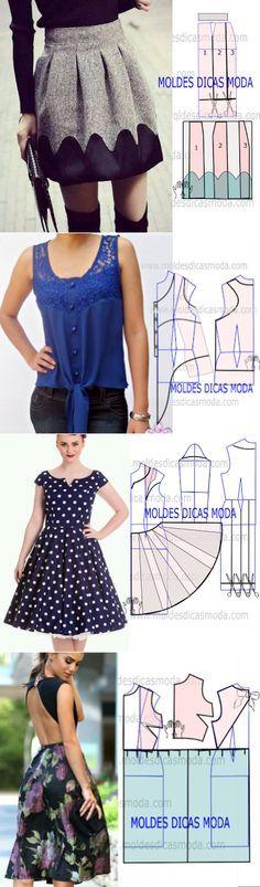 Diseño faldas                                                                                                                                                     Más