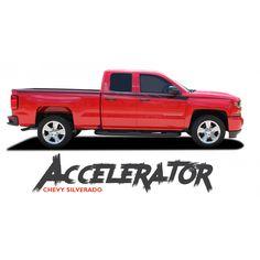Chevy Silverado FLEX Side Body Hockey Door To Fender Vinyl - Chevy decals for trucksmore decalchevrolet silverado rally edition unveiled