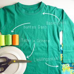 Hab ich recht? Im Kleiderschrank euer Kinder schlummern bestimmt auch diese Basic-Shirts, die man irgendwann irgendwo mal mitgenommen hat, w...