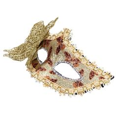 Gold Butterfly decoration Sexy Women Venetian Hollow Masquerade Eye Face Mask Party Ball Prom Halloween