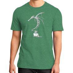 Ink Dragon White District T-Shirt (on man)