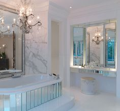 Glam bathroom by Louise Bradley