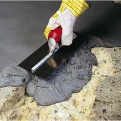 You'll be surprised at how easy it is to permanently fix damaged or worn concrete with our bestselling repair mortar. Epoxy Repair Mortar was originally developed for industry, but is now available in a version specifically designed Cement Crafts, Concrete Projects, Outdoor Projects, Home Projects, Concrete Patios, Concrete Cement, Concrete Design, Coaster, Driveway Repair