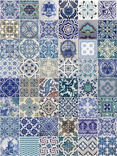 Kit de adesivos - Azulejos portugueses - 15x15cm