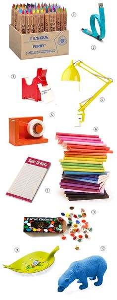 Everyone needs a colour filled desk!