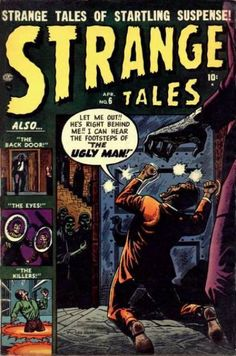 The Marvel(ous) Atlas Horror Covers Of Russ Heath Scary Comics, Sci Fi Comics, Horror Comics, Horror Art, Comic Book Artists, Comic Books, Marvel Masterworks, Tales Of Suspense, Ugly Men