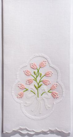 Appliqué Bow<br>Hand Towel - White Linen