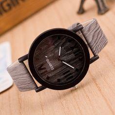 Wood watch Roman Numerals Analog Quartz Clock
