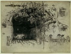 James McNeil Whistler (1834-1903), The Traghetto, No. 2. 1880. Etching and drypoint, 9 1/4 x 12, Series: Venice, a Series of Twelve Etchings.