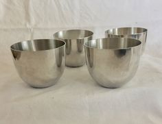 Vintage Pewter Jefferson cups, set of 4 great gift for collector history buff from GiosGems on etsy