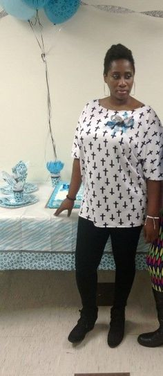 I made this top for my daughters baby shower and also decorated the hall
