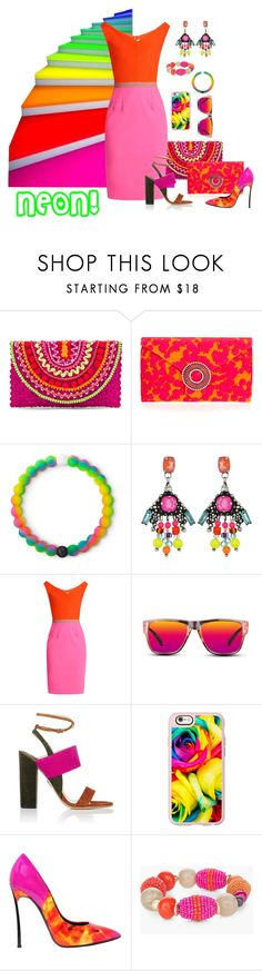 """NEON IN MAY! WHO'DA THOUGHT?"" by hrhjustcuz ❤ liked on Polyvore featuring Mystique, Wilbur & Gussie, Lokai, DANNIJO, Emilio De La Morena, GlassesUSA, Paul Andrew, Casetify, Casadei and Chico's"