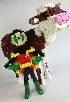 Bat-Cow and Robin | Flickr - Photo Sharing!