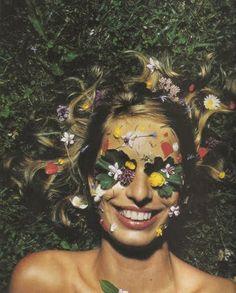 Karolina Kurkova Flower face