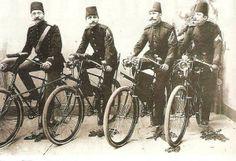 Bisikletli osmanlı postacıları - Postmen in Ottoman Empire with bicycles