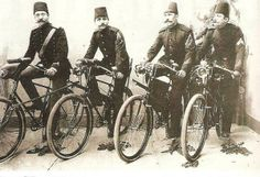 Bisikletli osmanlı postacıları - Postmen in Ottoman Empire with bicycles