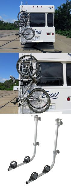 "Unique RV bike rack that attached to any RV ladder with 1"" diameter vertical support rails. Make sure you can go biking while your out exploring in your RV."